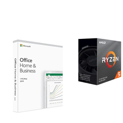 AMD & MICROSOFT BUILD-YOUR-OWN PC BUNDLE - RYZEN 5 3600 & WIN 10 PRO + OFFICE HOME & BUSINESS 2019