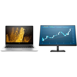 HP 840 G6 I5-8265U 8GB- PLUS HP PRODISPLAY P244 MONITOR (5QG35AA)