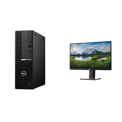 OPTIPLEX 5080 SFF I7-10700 16GB[2X8GB 2666-DDR4] 1TB[HDD-7.2] + MONITOR 23.8IN P2419HE FOR ADDITIONAL $99EX - PROMO BUNDLE