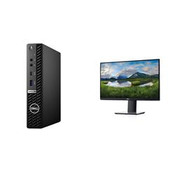 OPTIPLEX 7080 MFF I5-10500T 16GB[1X16GB 2666-DDR4] 256GB[M.2-SSD] + MONITOR 23.8IN P2419HE FOR ADDITIONAL $99EX - PROMO BUNDLE