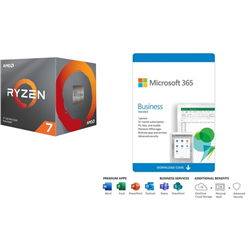 AMD & MICROSOFT BUILD-YOUR-OWN PC BUNDLE - RYZEN 7 3700X & WIN 10 PRO + MICROSOFT 365 BUSINESS