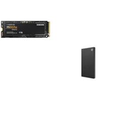 SAMSUNG (970 EVO PLUS) 1TB- M.2 INTERNAL NVME PCIE SSD BONUS SEAGATE 2TB EXT HDD