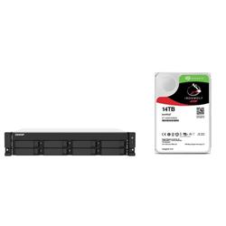 BUNDLE QNAP 8-BAY NAS (TS-873AU-RP-4G) + SEAGATE ENT HDD 112TB (8 X 14TB) + RAIL KIT