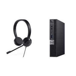OPTIPLEX 7070 MICRO I5-9500T 8GB(1X8GB 2666-DDR4) 256GB(M.2-SSD) + UC150 PRO STEREO HEADSET FOR ADDITIONAL $1EX - PROMO BUNDLE