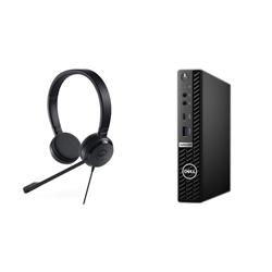 OPTIPLEX 5080 MICRO I7-10700T 8GB[1X8GB 2666-DDR4] 256GB[M.2-SSD] + UC150 PRO STEREO HEADSET FOR ADDITIONAL $1EX - PROMO BUNDLE