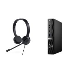 OPTIPLEX 5080 MFF I5-10500T 16GB[1X16GB 2666-DDR4] 256GB[M.2-SSD] + UC150 PRO STEREO HEADSET FOR ADDITIONAL $1EX - PROMO BUNDLE