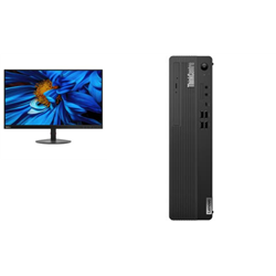 THINKCENTRE M70S-1 SFF I5-10400 8GB RAM 512GB SSD DVDRW WIN10 PRO 3YROS + LENOVO S24E MONITOR(61CAKAR1AU)