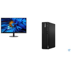 THINKCENTRE M70S-1 SFF I7-10700 16GB RAM 512GB SSD DVDRW WIN10 PRO 3YROS + LENOVO S24E MONITOR(61CAKAR1AU)