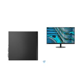 THINKCENTRE M70Q-1 TINY I5-10400T 8GB RAM 256GB SSD WIFI+BT WIN10 PRO 3YROS + LENOVO S27I MONITOR(61C7KAR1AU)