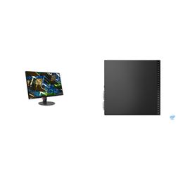 THINKCENTRE M70Q-1 TINY I5-10400T 8GB RAM 256GB SSD WIFI+BT WIN10 PRO 3YROS + LENOVO S22E MONITOR(61C9KAR1AU)