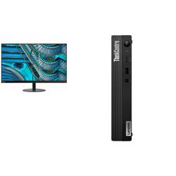 THINKCENTRE M80Q-1 TINY I7-10700T 16GB RAM 512GB SSD WIFI+BT WIN10 PRO 3YROS + LENOVO S27I MONITOR(61C7KAR1AU)