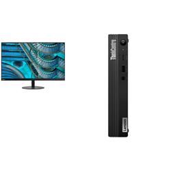 THINKCENTRE M80Q-1 TINY I5-10500T 16GB RAM 256GB SSD WIFI+BT WIN10 PRO 3YROS + LENOVO S27I MONITOR(61C7KAR1AU)