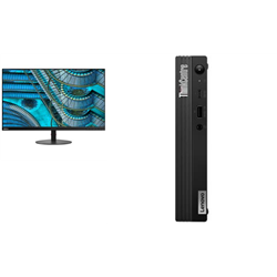 THINKCENTRE M80Q-1 TINY I5-10500T 8GB RAM 512GB SSD WIFI+BT WIN10 PRO 3YROS + LENOVO S27I MONITOR(61C7KAR1AU)