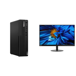 THINKCENTRE M80S-1 SFF I5-10500 8GB RAM 512GB SSD WIFI+BT DVDRW WIN10 PRO 3YROS + LENOVO S24E MONITOR(61CAKAR1AU)