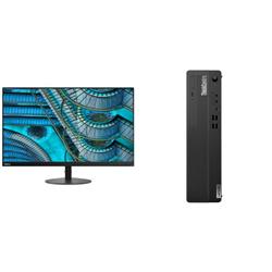 THINKCENTRE M80S-1 SFF I5-10500 8GB RAM 256GB SSD WIFI+BT DVDRW WIN10 PRO 3YROS + LENOVO S27I MONITOR(61C7KAR1AU)