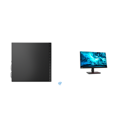 THINKCENTRE M70Q-1 TINY I5-10400T 8GB RAM 256GB SSD WIFI+BT WIN10 PRO 3YROS + LENOVO T23I MONITOR(61F6MAR2AU)
