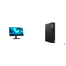 THINKCENTRE M70Q-1 TINY I7-10700T 16GB RAM 512GB SSD WIFI+BT WIN10 PRO 3YROS + LENOVO T23I MONITOR(61F6MAR2AU)