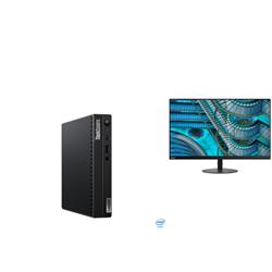 THINKCENTRE M70Q-1 TINY I7-10700T 16GB RAM 512GB SSD WIFI+BT WIN10 PRO 3YROS + LENOVO S27I MONITOR(61C7KAR1AU)