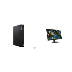 THINKCENTRE M70Q-1 TINY I7-10700T 16GB RAM 512GB SSD WIFI+BT WIN10 PRO 3YROS + LENOVO S22E MONITOR(61C9KAR1AU)