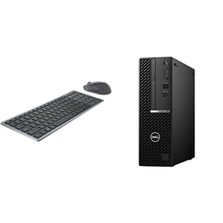 OPTIPLEX 7080 SFF I7-10500 8GB[1X8GB 2666-DDR4] 256GB[M.2-SSD] + WIRELESS KEYBOARD & MOUSE COMBO KM7120W FOR ADDITIONAL $1EX - PROMO BUNDLE