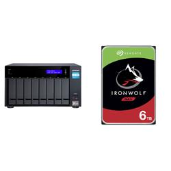 BUNDLE QNAP 8-BAY NAS (TVS-872X-I3-8G) + SEAGATE NAS HDD 48TB (8 X 6TB)