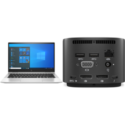 HP ELITEBOOK 830 X360 G8 I7-1165 PLUS HP THUNDERBOLT DOCK 120W G2