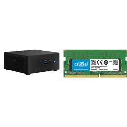 INTEL MINI NUC PC- I5-1135G7 8GB(1/2)- 500GB SSD- WL-AX- W10P- 3YR NBD