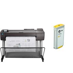 HP DESIGNJET T730 36 INCH PRINTER + INK SET
