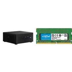 INTEL MINI NUC PC- I3-1115G4- 8GB(1/2)- 512GB M.2 SSD- 2.5