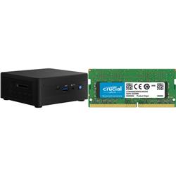 INTEL MINI NUC PC- I3-1115G4-  8GB(1/2)- 120GB M.2 SSD- 2.5