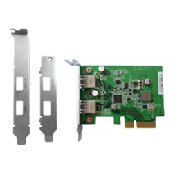 QNAP DUAL-PORT USB 3.1 TYPE-A  GEN 2 PCIE CARD- FOR QTS 4.3 AND ABOVE- CABLES NOT INCLUDED