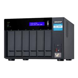 QNAP 6-BAY NAS (NO DISK) INTEL QC 3.1GHZ- 4GB- 5GBE(1)- GBE(2)- TWR- 2YR WTY
