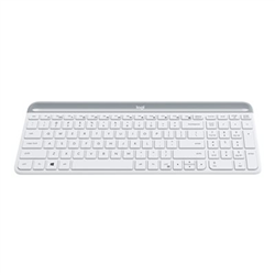 LOGITECH MK470 SLIM WIRELESS KEYBOARD AND MOUSE COMBO-2.4 GHZ USB RECEIVER- WHITE- 1YR WTY