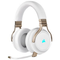 CORSAIR VIRTUOSO RGB WIRELESS HIGH-FIDELITY GAMING HEADSET- PEARL