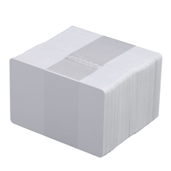 ZEBRA CARDS PVC 30 MIL PLAIN 500/BOX WHITE