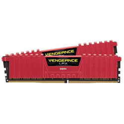 CORSAIR VENGEANCE LPX 16GB (2X8GB) DDR4 DRAM DIMM 2400MHZ UNBUFFERED 16-16-16-39 RED HEAT SPREADER 1.20V XMP 2.0