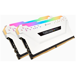 CORSAIR VENGEANCE RGB PRO DDR4- 3000MHZ 16GB 2 X 288 DIMM- UNBUFFERED- 15-17-17-35- WHITE HEAT SPREADER-RGB LED- 1.35V- XMP 2.0