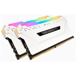 CORSAIR VENGEANCE RGB PRO DDR4- 3200MHZ 16GB 2 X 288 DIMM- UNBUFFERED- 16-18-18-36- WHITE HEAT SPREADER- RGB LED- 1.35V- XMP 2.0