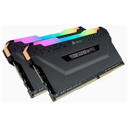 CORSAIR VENGEANCE RGB PRO  DDR4- 3600MHZ 16GB 2X 288 DIMM- UNBUFFERED- 18-22-22-42- BLACK HEAT SPREADER-1.35V- XMP 2.0-FOR AMD RYZEN