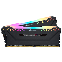 CORSAIR VENGEANCE RGB PRO DDR4- 3600MHZ 16GB 2X8GB DIMM- UNBUFFERED- 20-23-23-43- XMP 2.0- HEATSPREADER- RGB LED- 1.35V