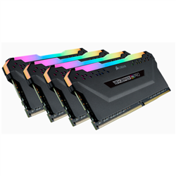 CORSAIR VENGEANCE RGB PRO DDR4- 3200MHZ 64GB 4 X 288 DIMM- UNBUFFERED- 16-18-18-36- BLACK HEAT SPREADER- RGB LED- 1.35V- XMP 2.0