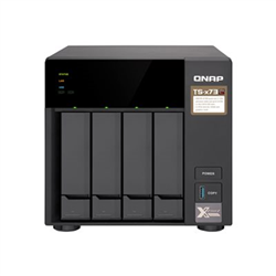 QNAP 4-BAY NAS (NO DISK) AMD QC 2.1GHZ- 4GB- GBE(4)- M.2(2)- TWR- 2YR WTY