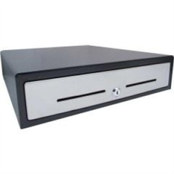 VPOS CASH DRAWER EC350 4 NOTE 8 COIN 24V BLACK STAINLESS STEEL FRONT
