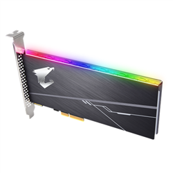 GIGABYTE AORUS RGB AIC NVME SSD 1TB - PCIE 3.0 X 4- NVME 1.3-SEQUENTIAL READ SPEED : UP TO 3480 MB/S- SEQUENTIAL WRITE SPEED : UP TO 3080 MB/S- 5YRS