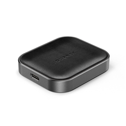 JOURNEY APPLE AIRPOD WIRELESS CHARGER - GERMANY LEATHER - BLACK