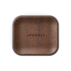JOURNEY APPLE AIRPOD WIRELESS CHARGER - GERMANY LEATHER - DARK BROWN