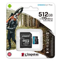 512GB MICROSDXC CANVAS GO PLUS 170R A2 U3 V30 CARD + ADP