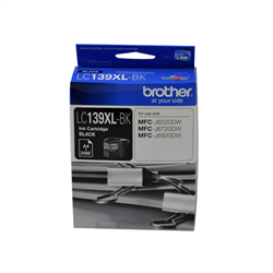 BROTHER LC-139XL BLK INK CART TO SUIT MFC-J6520DW J6720DW J6920DW UP TO 2400 PAGE YIELD