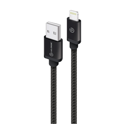 ALOGIC PRIME LIGHTNING TO USB CHARGE & SYNC CABLE - 3M BLACK (APPLE CERTIFIED UNDER MFI) - MOQ:3