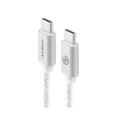 ALOGIC 3M USB 2.0 USB-C TO USB-C CABLE - CHARGE & SYNC - MALE TO MALE - SILVER - PRIME SERIES